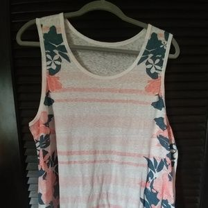 Floral and stripped tank top